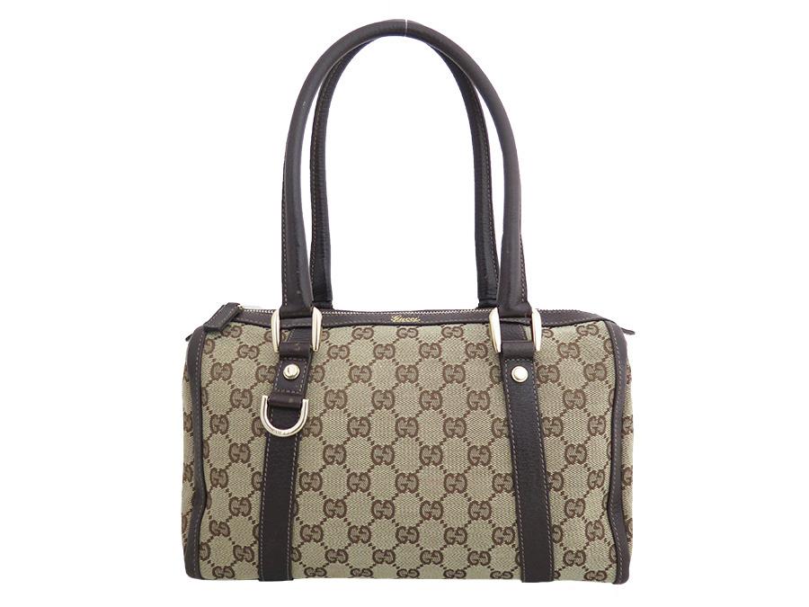bf368c7834 Gucci Gucci bag GG canvas brown x gold metal fittings canvas x leather  shoulder bag handbag ...