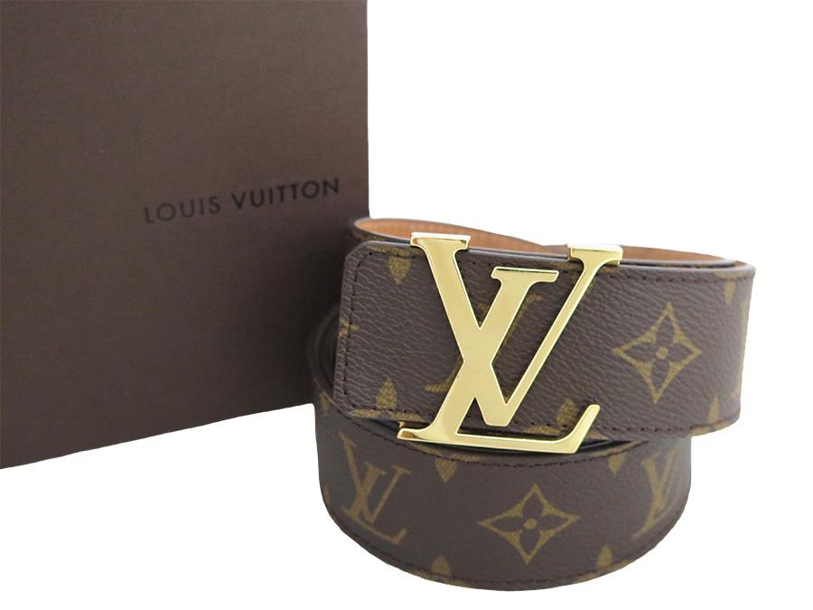 830710120f88  basic popularity   used  Louis Vuitton  Louis Vuitton  monogram sun Tulle  initial belt waist belt buckle men brown x gold metal fittings monogram  canvas