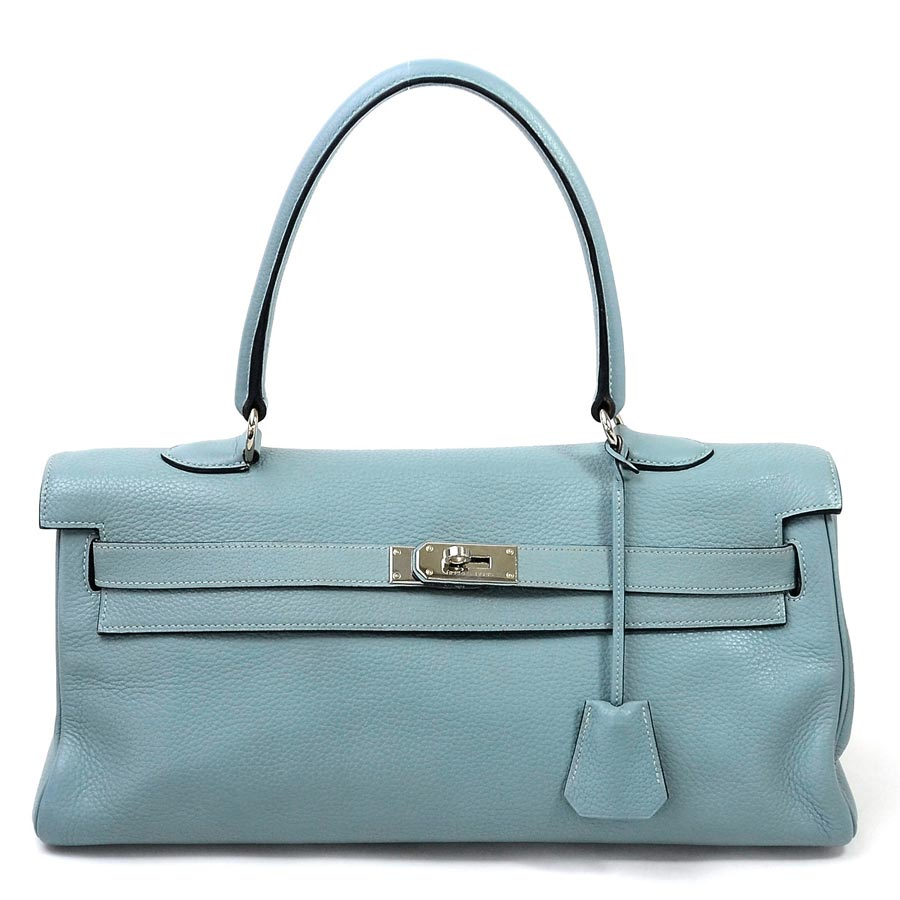 e41b1d2a4a4  basic popularity   used  Hermes  HERMES  shoulder Kelly handbag shoulder  bag Lady s shell (light blue) avian Yong Clement s