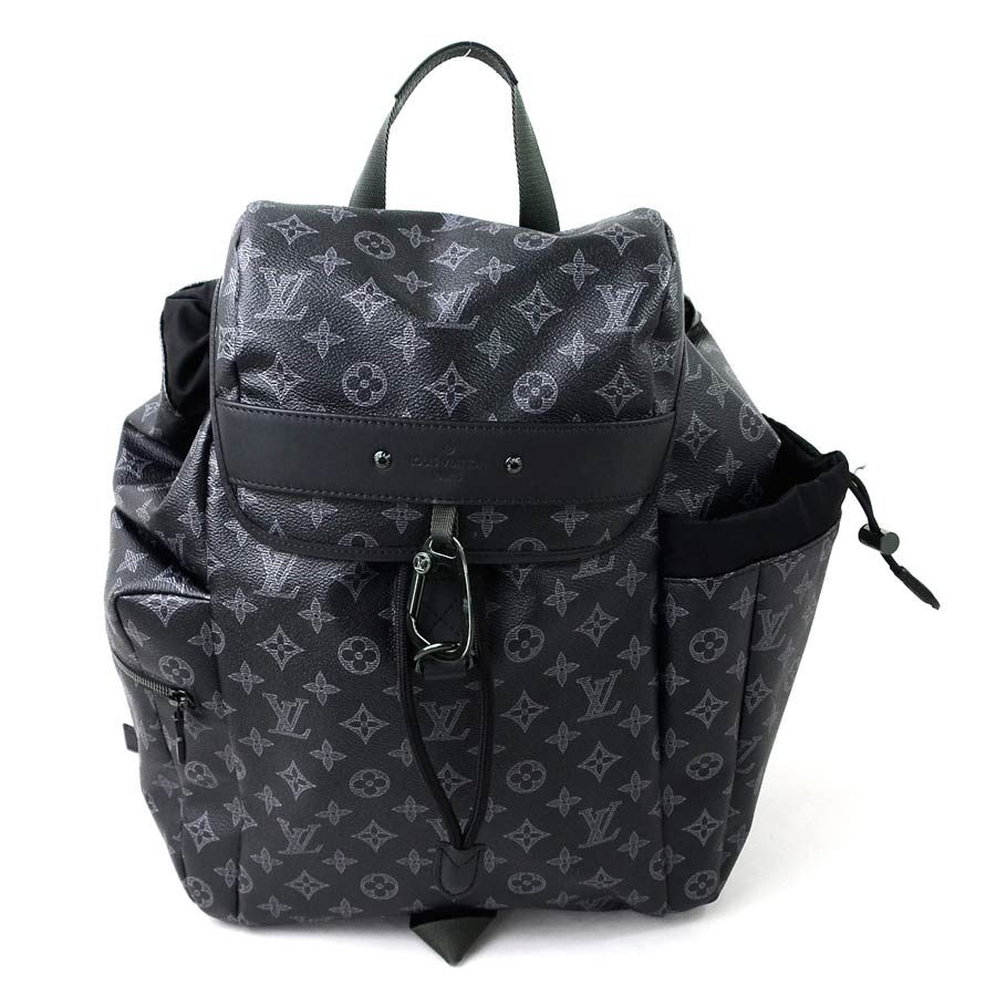 14a1bcba19ee  unused   new article  Louis Vuitton  Louis Vuitton  2018 pop store-only  monogram eclipse Discovery backpack rucksack men dark gray x black monogram  canvas