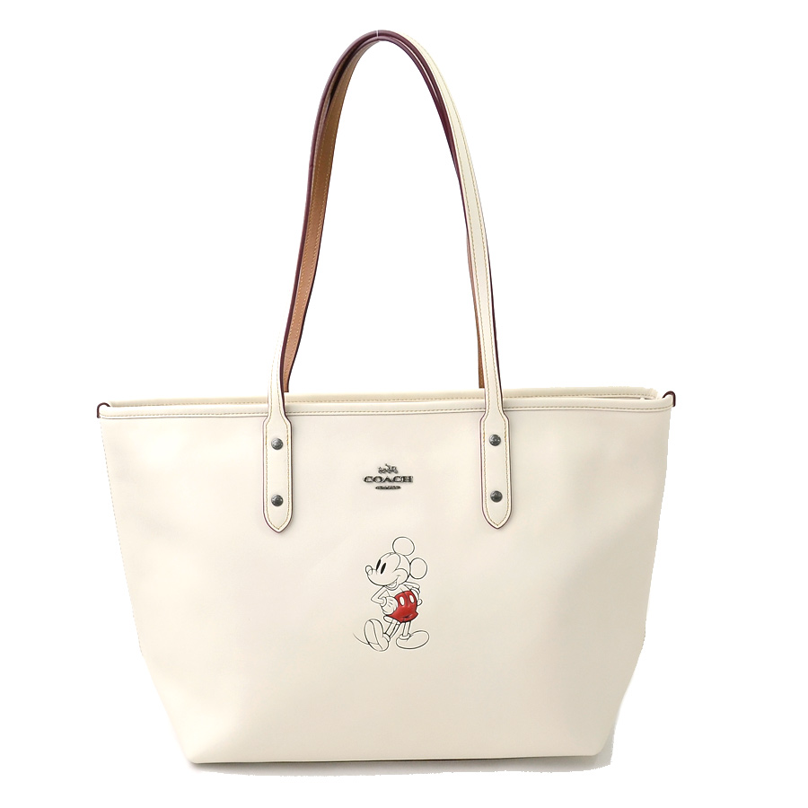 f94368eca BrandValue: Coach shoulder bag tote bag Disney x Coach collaboration chalk  (ivory system x red x black) leather COACH Lady's - y13297 | Rakuten Global  ...