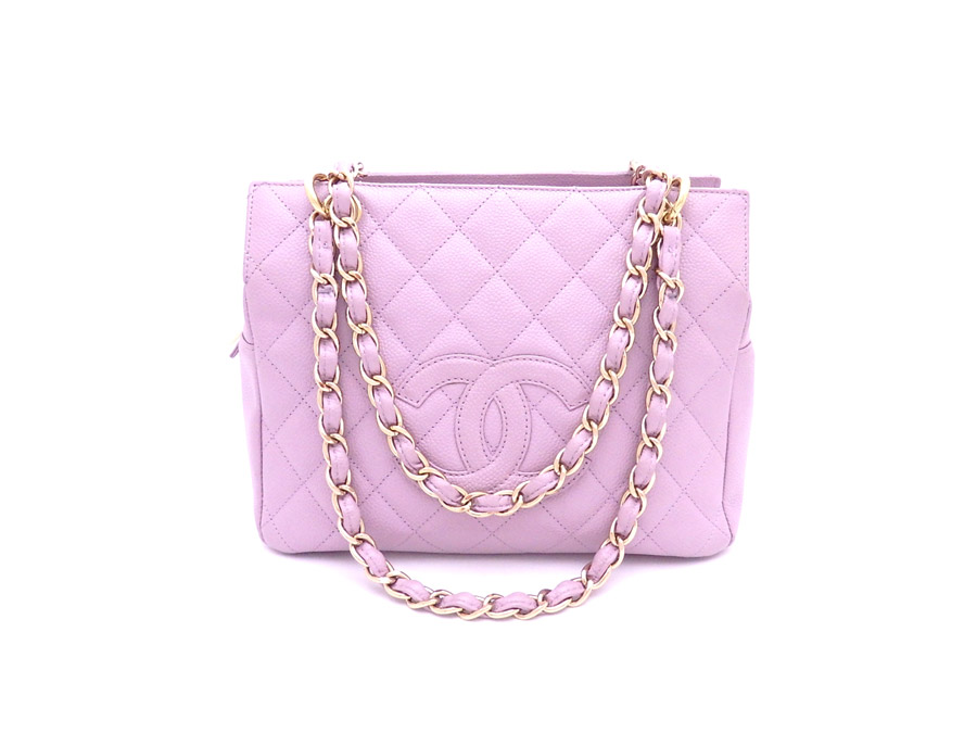 3dbf71b5337d BrandValue: Chanel CHANEL bag matelasse purple x gold metal fittings caviar  skin chain shoulder bag tote bag Lady's - e32658 | Rakuten Global Market