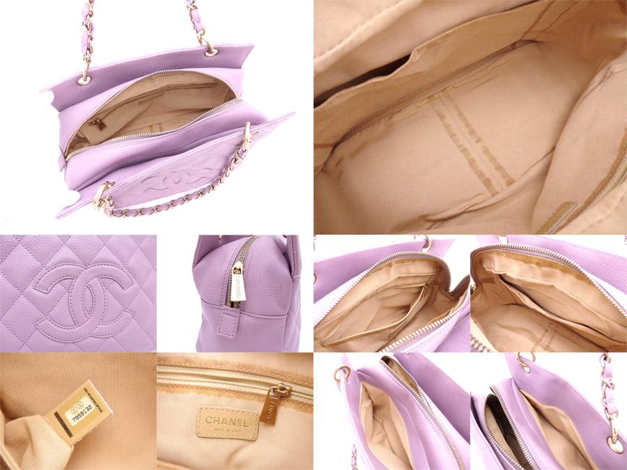 88ab98216678 [basic popularity] [used] Chanel [CHANEL] matelasse bag chain shoulder bag  tote bag Lady's purple x gold metal fittings caviar skin
