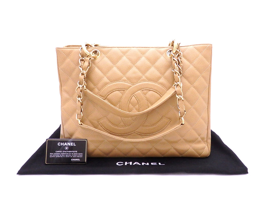 limpid in sight buy sale special for shoe Chanel CHANEL bag matelasse GST light brown x gold metal fittings caviar  skin chain tote bag shoulder bag Lady's - e32995