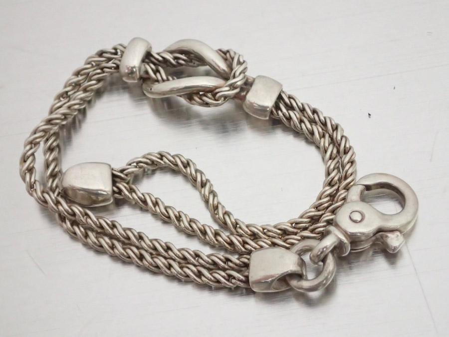 1a16bb5c2 BrandValue: Tiffany Tiffany & Co. Bracelet double rope silver SV925  chain bracelet silver breath Lady's men - e33335 | Rakuten Global Market