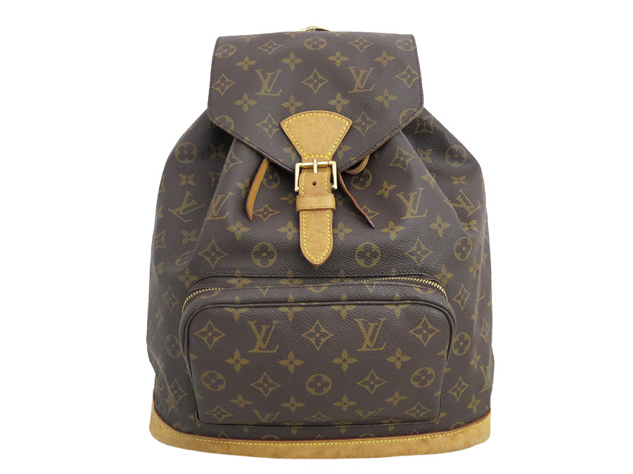 e22bdbcc0302  basic popularity   used  Louis Vuitton  LOUIS VUITTON  M51135 monogram mon  pickpocket GM rucksack backpack Lady s brown monogram canvas