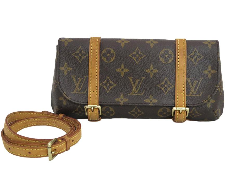 Louis Vuitton M51159 Monogram Pochette Male Roux Est Porch Clutch Bag Brown Canvas Lady S E33205