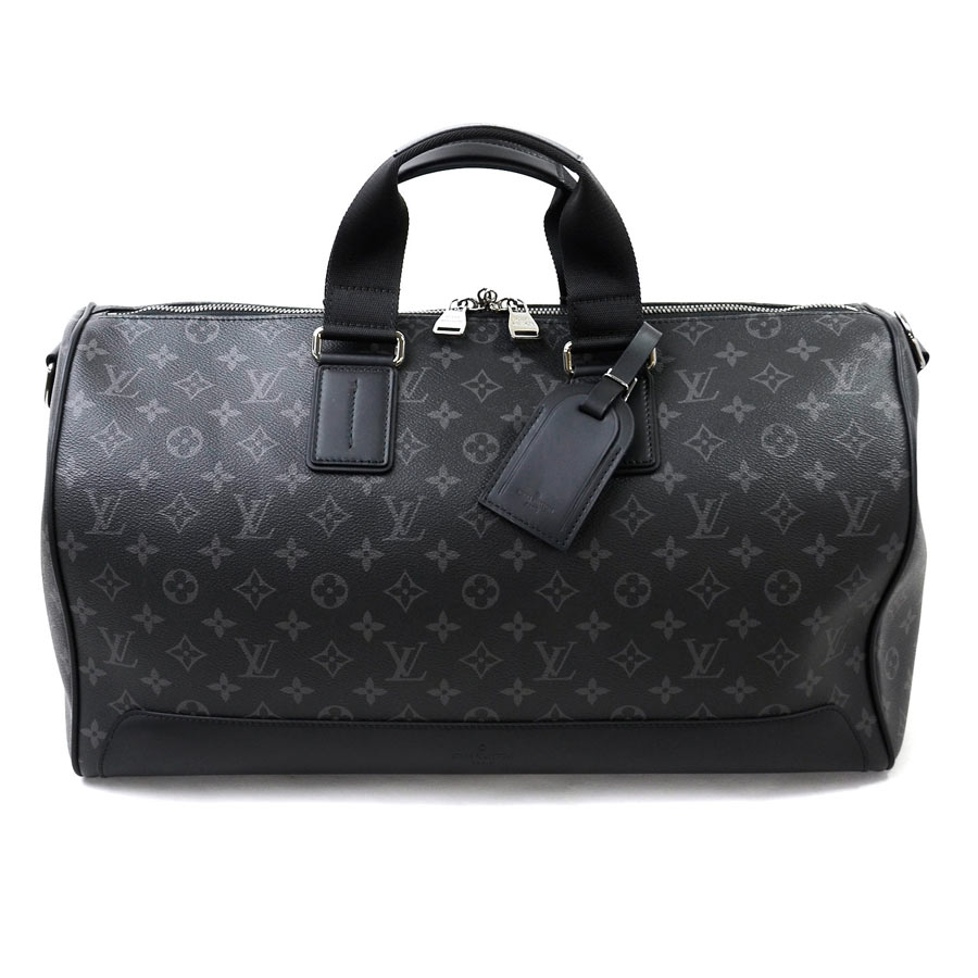 beautiful article  It is Louis Vuitton  Louis Vuitton  monogram  エクリプスキーポルヴォワヤージュ (Voyager) Boston bag travel bag men dark gray x black ... eabdc8cb87dc7