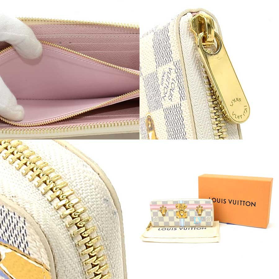 Louis Vuitton Round Fastener Long Wallet X Chika Malle Lada Mie Canvas Ladys N60109 95286