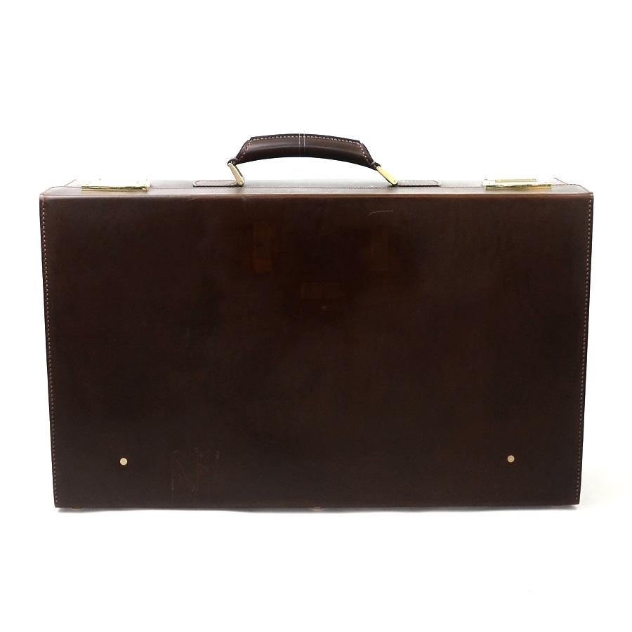 ダンヒル dunhill トラベルバッグ スーツケース トランクケース ブラウン系 レザー レディース メンズ 送料無料【中古】【定番人気】 - y13376
