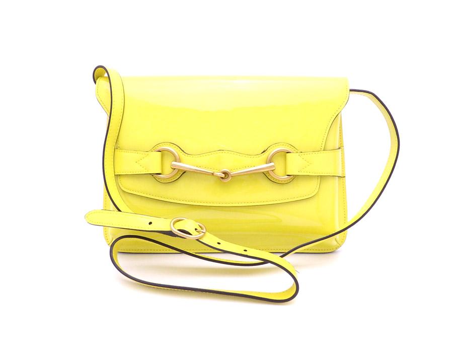 Gucci Bag Hose Bit Yellow X Gold Metal Ings Enamel Material Shoulder One Lady S 317636 E33552