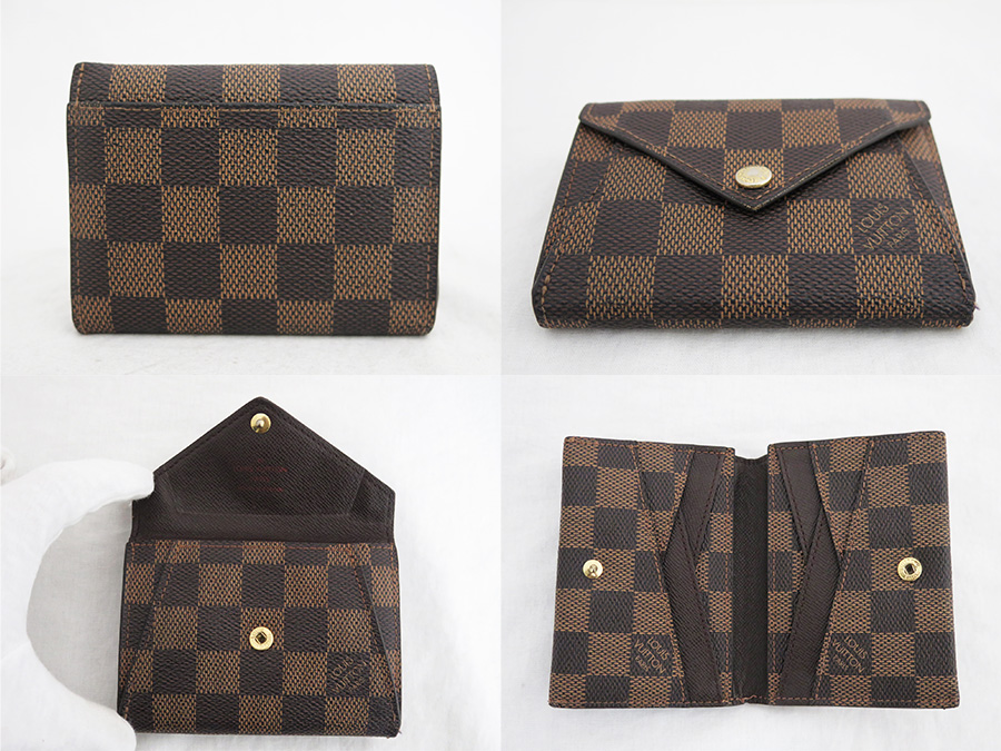 Louis Vuitton Louis Vuitton Wallet ダミエポルトフォイユ Origami Compact Brown X Gold Metal Fittings