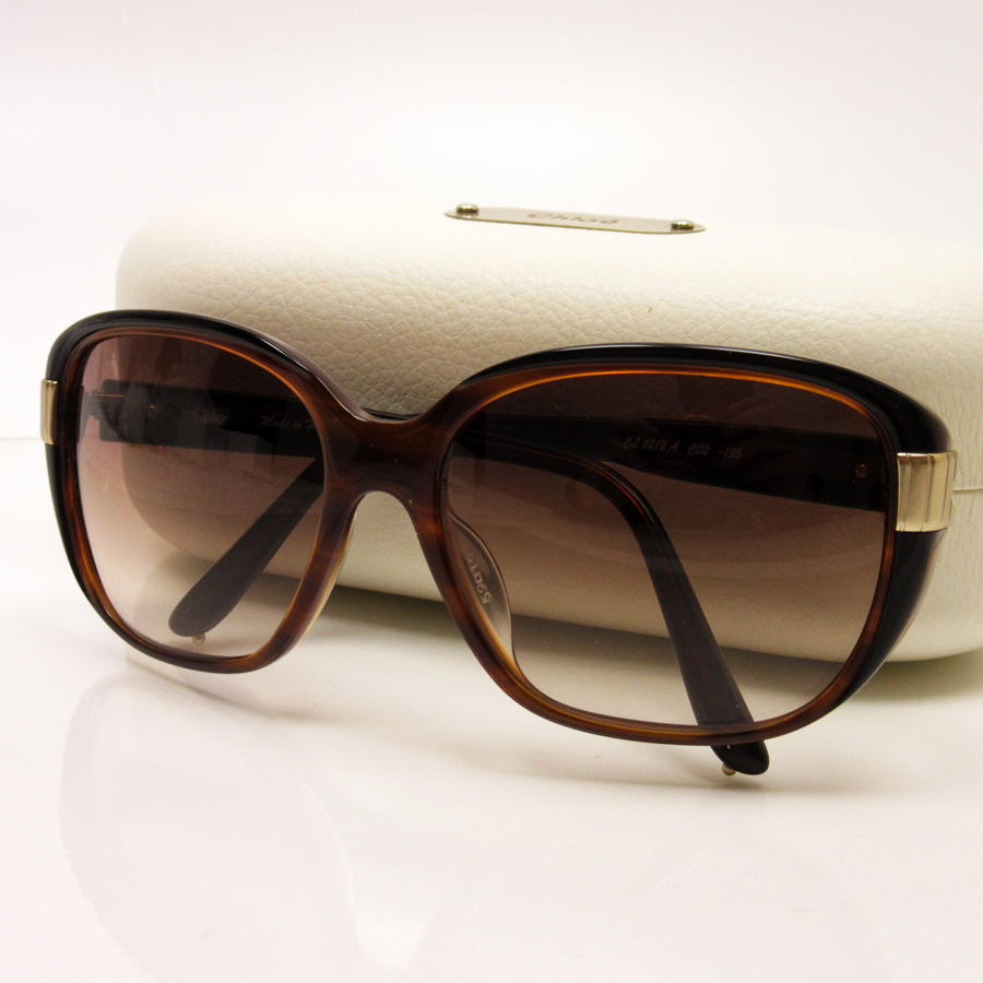 36ba7469 Kuroe Chloe sunglasses 59 □ 16 135 ◆ lens: Brown frame & temple: ◆ Lady's -  h14627 which there is black / brown / gold plastic ◆ reason in