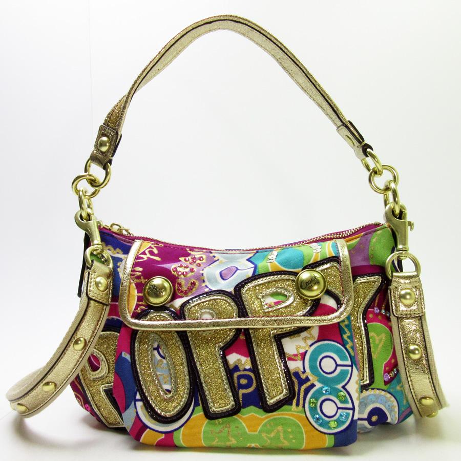 Coach COACH shoulder bag 2Way bag poppy ◆ gold x multi-canvas x lam x  enamel x stone ◆ constant seller popularity ◆ Lady's - h14663