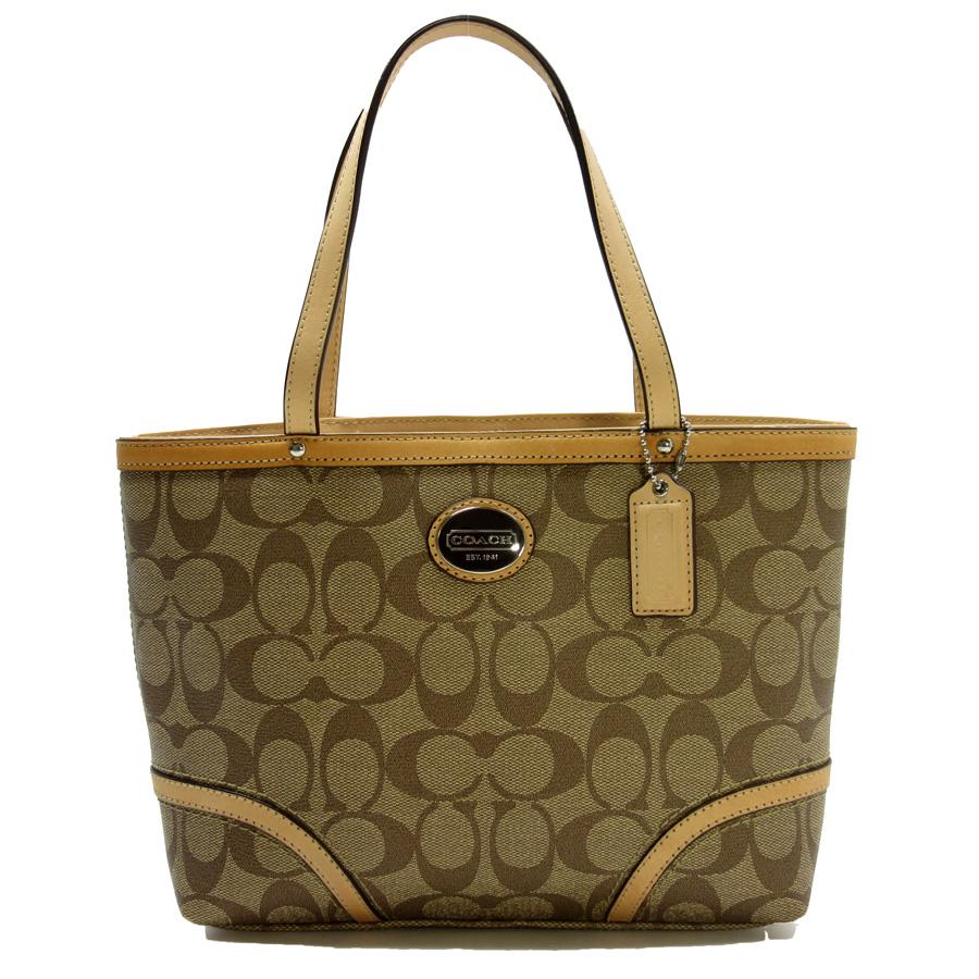 3584adfe3f94 ... usa coach coach handbag tote bag signature beige pvcx leather constant  seller popularity ladys h14708 87360