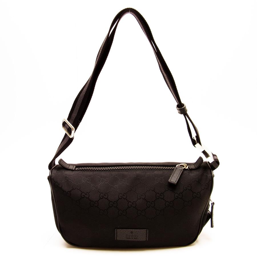 439d2f31009038 Gucci GUCCI waist porch body bag GG pattern ◇ black nylon ◇ constant seller  popularity ...