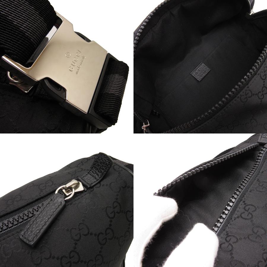 0f5171da2edd0e ... Gucci GUCCI waist porch body bag GG pattern ◇ black nylon ◇ constant  seller popularity ...