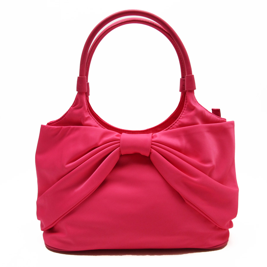 Kate Spade Shoulder Bag Pink Nylon X Leather Constant Seller Popularity Ladys H15173 Used