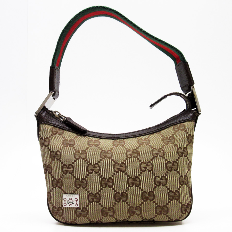 e734dbb16e00 BrandValue: Gucci GUCCI mini-shoulder bag GG pattern ウェビング ◇ brown x green  x red leather x canvas ◇ constant seller popularity ◇ Lady's - n8164 ...