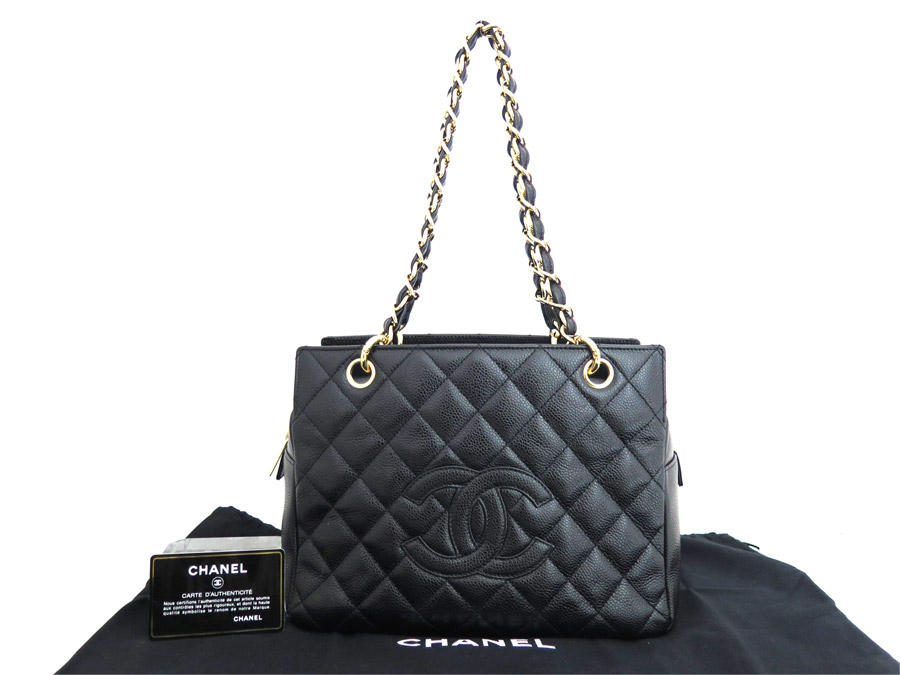 f1f946bf1d26 BrandValue: Chanel CHANEL bag here mark thymeless Thoth black x gold metal  fittings caviar skin leather chain shoulder bag tote bag Lady's - e34144 ...