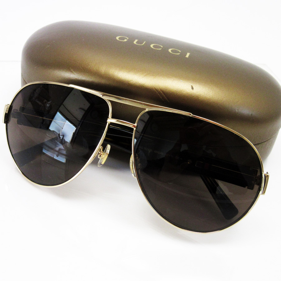 gucci sunglasses. gucci gucci sunglasses 62 □ 13 135 teardrop ◇ frame: a gold side: