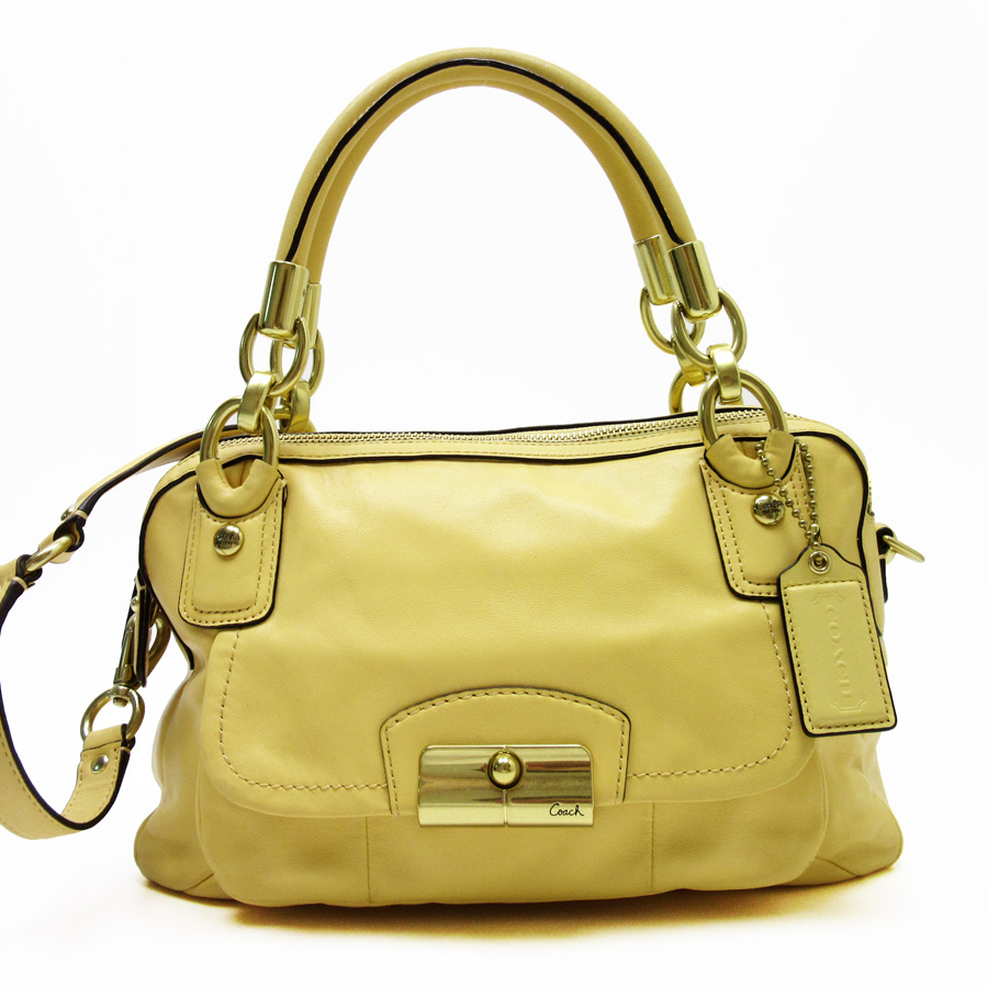 9c7f48eb34 BrandValue: Coach COACH handbag shoulder bag 2Way bag yellow leather Lady's  - h15653 | Rakuten Global Market
