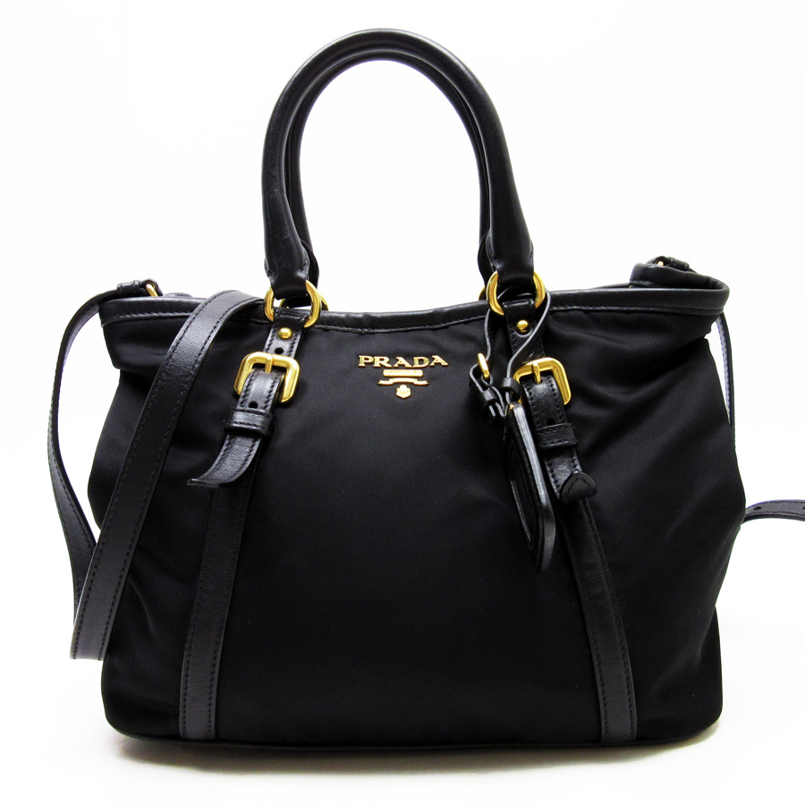 c0122a15376f ... buy brandvalue rakuten global market prada prada handbag tote bag 2way  bag black x gold nylon ...