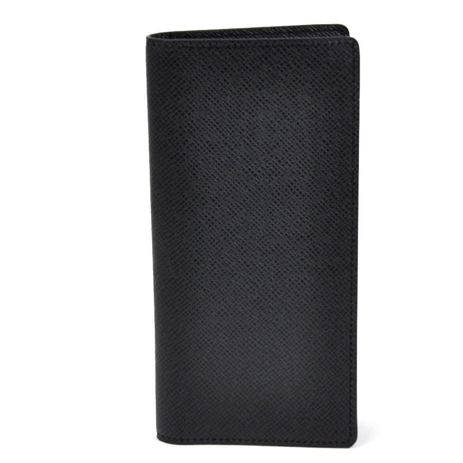 【新品同様】ルイヴィトン 二つ折り長財布 タイガ ポルトフォイユ アレクサンドル アルドワーズ(ブラック系) タイガレザー Louis Vuitton メンズ M61803 送料無料【中古】 - 95511