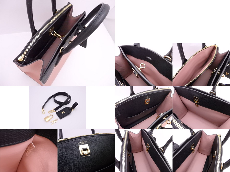 Louis Vuitton city steamer MM handbag black x pink avian Yong leather x  gold metal fittings shoulder bag 2Way bag M53019 LOUIS VUITTON - e35841 2911b1f840d0f