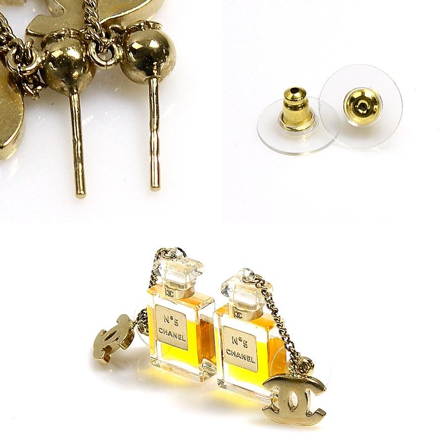 993ab7a70262 【定番人気】 【中古】シャネル【CHANEL】 香水NO.5モチーフピアス ピアス レディース ゴールド 金属素材