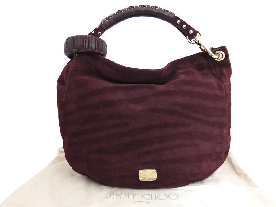 870b9ae055 BrandValue: ジミーチュウ JIMMY CHOO bag logos chi bag Bordeaux x silver x gold  metal fittings suede x leather shoulder bag handbag Lady's - e34350    Rakuten ...