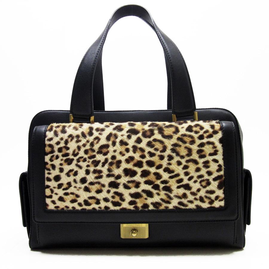 Basic Pority Used ジミーチュウ Jimmy Choo Handbag Lady S Beige X Black Harako Leather
