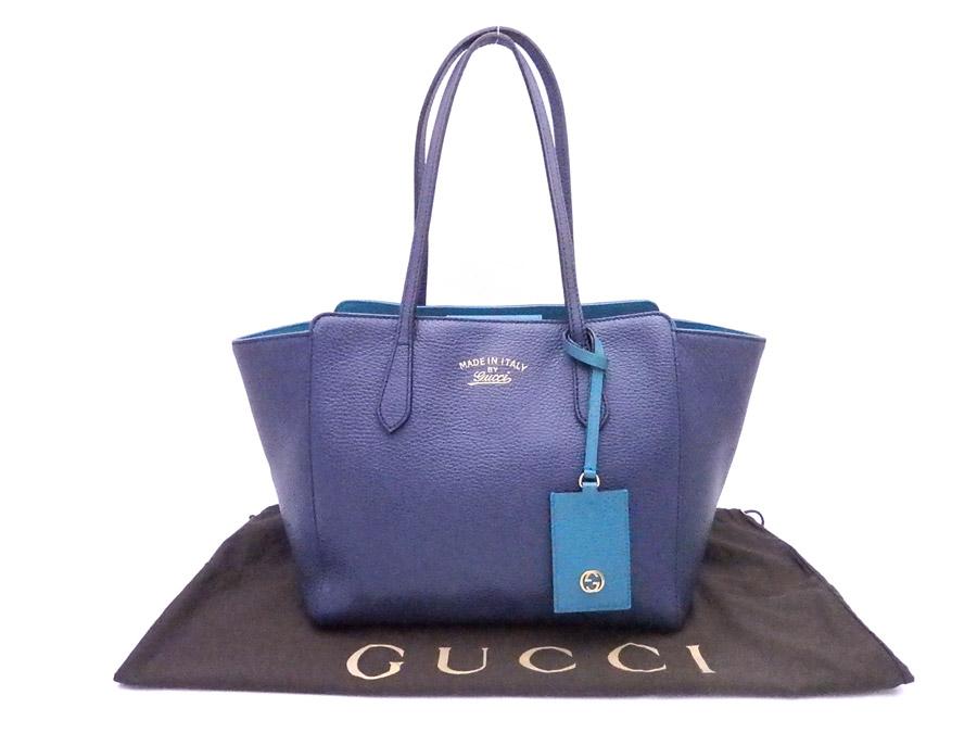 98776553a7 BrandValue: Gucci GUCCI bag logo blue x gold metal fittings leather tote  bag shoulder bag Lady's 354408 - e34808 | Rakuten Global Market