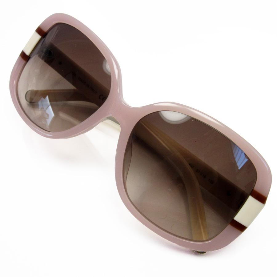 ff3e035f7af  basic popularity   used  a Kuroe  Chloe  sunglasses 57 □ 16 135 lady s lens   A frame of Brown line  Ivory x pink plastic
