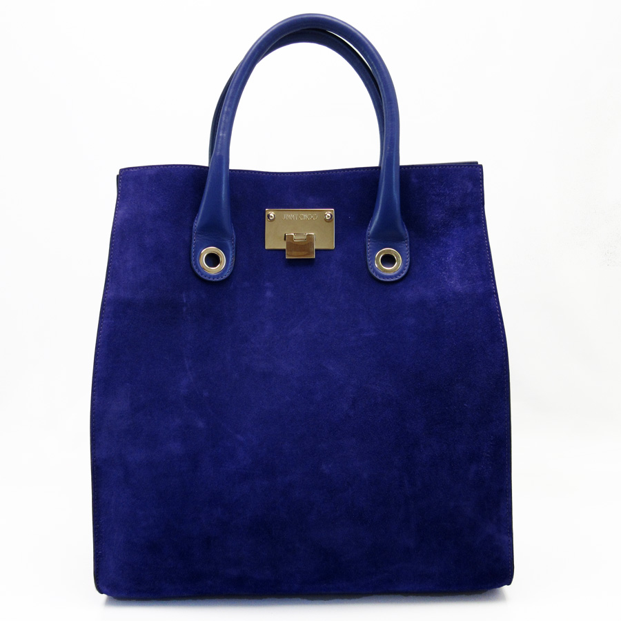 ジミーチュウ Jimmy Choo Handbag Tote Bag Riley Purple X Gold Suede Calf Lady S H17318