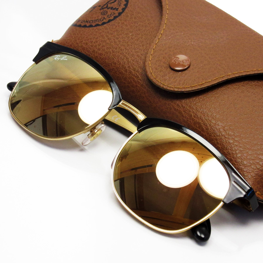 □ Ban Club Master Lady Gafas Lens 53 A H17344 Men Black sol Gold de 19 Ray Frame 145 Metal pptgXq