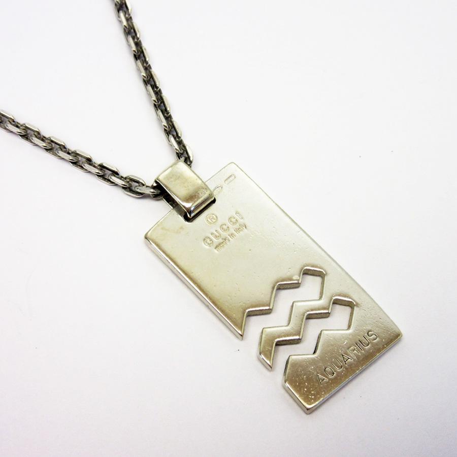 3621cbf5a ... Silver Sv925 Lady S Men H17353. Brandvalue Gucci Necklace Constellation  Pendant Aquarius
