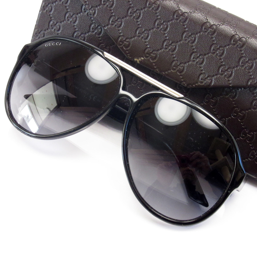 c838c714791 BrandValue  Gucci GUCCI sunglasses 59 □ 12 130 sherry lens  A black frame   Black x silver plastic x metal material Lady s -87