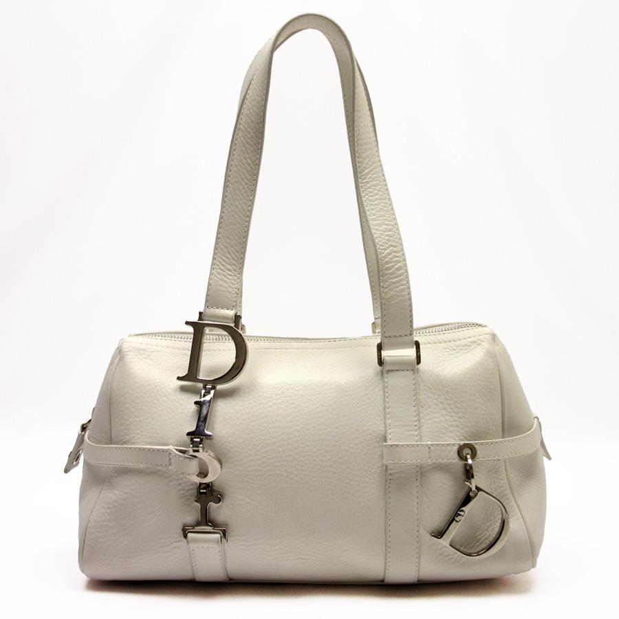クリスチャンディオール Christian Dior ショルダーバッグ ホワイトxシルバー レザー レディース定番人気87608lKJTF1c