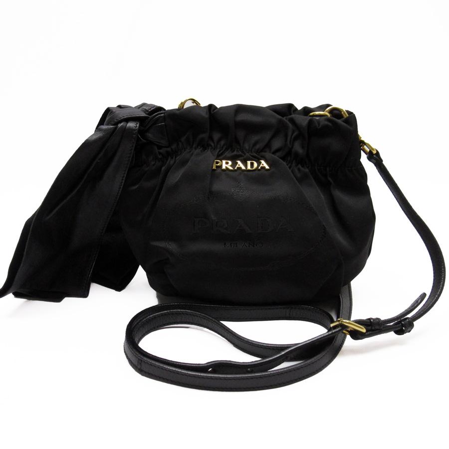 8ef1f253a7b9 ... order basic popularity used take prada prada ribbon slant shoulder bag  pochette ladys black x gold