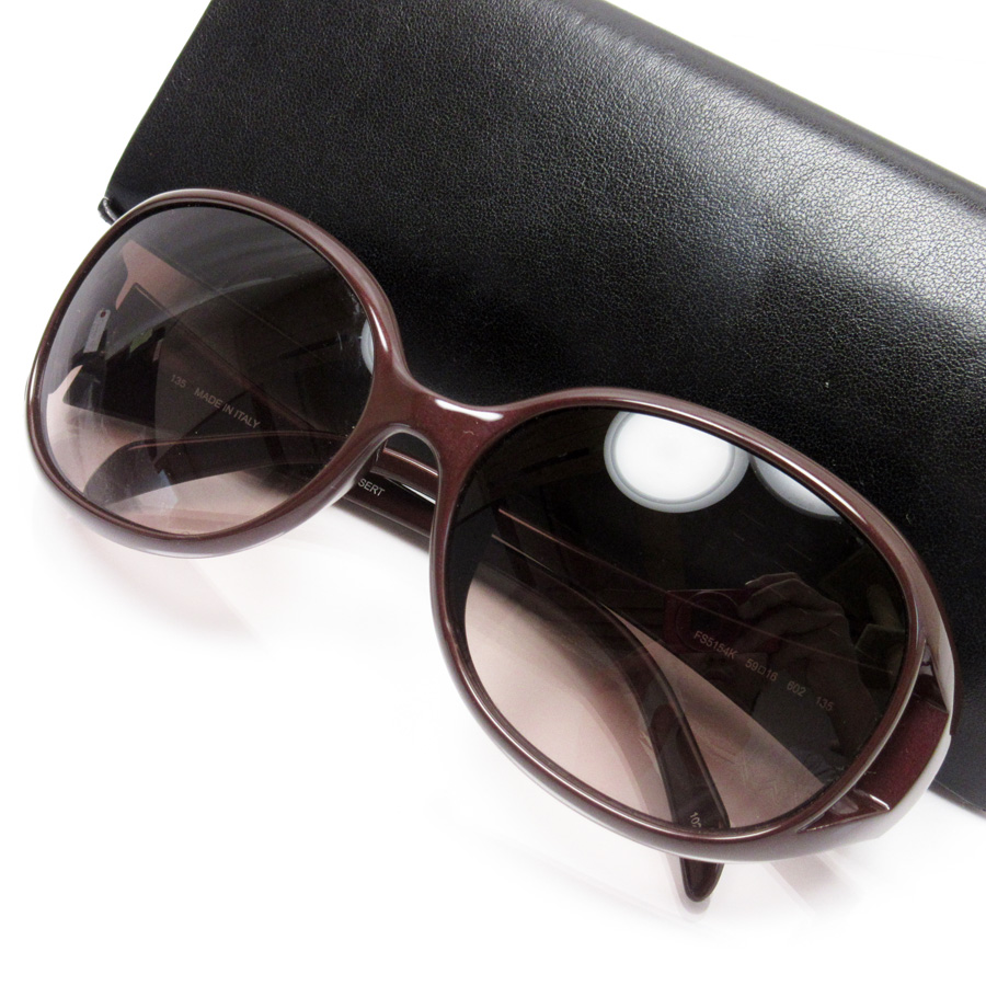 c4e3bfc0c95  basic popularity   used  Fendi  FENDI  ズッカサングラス (59 □ 16 135) Lady s frame   Brown x silver lens  Brown plastic