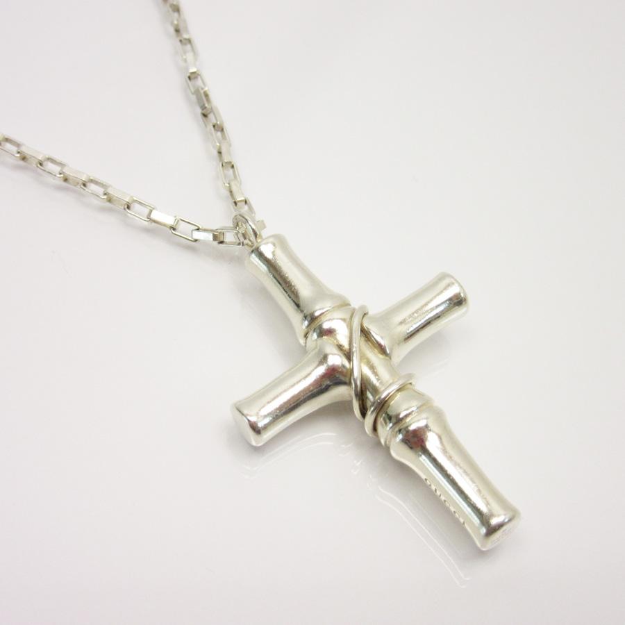 ec3357375 BrandValue: Gucci GUCCI necklace cross silver 925 lady's men's -88,059    Rakuten Global Market