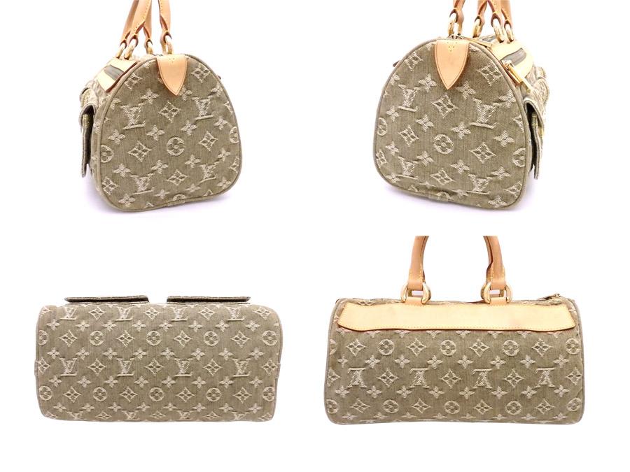 104d7ff28ade  basic popularity   used  Louis Vuitton  Louis Vuitton  monogram Muneo  Denis speedy bag handbag mini-Boston bag Lady s Riken green x brown x gold  metal ...