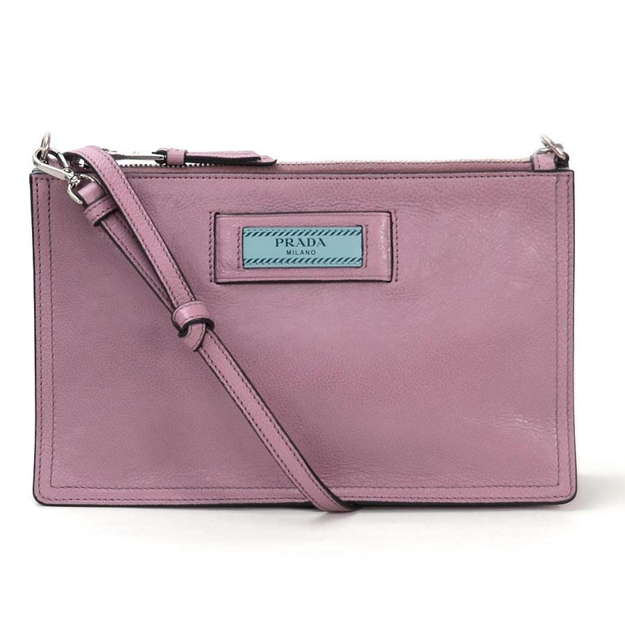 a28e0f6ea58bdf [basic popularity] [used] Prada [PRADA] clutch bag shoulder bag 2WAY bag  lady dark pink leather