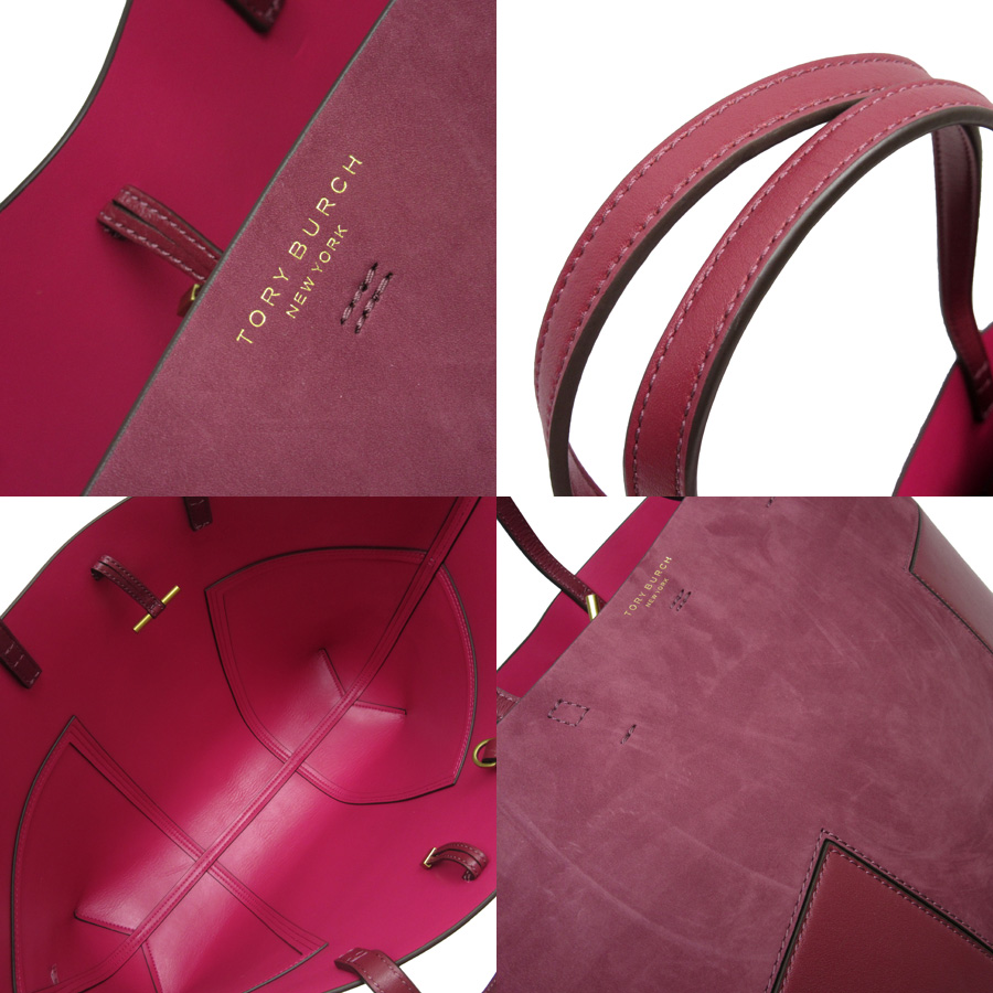 d7bf18eef5 [basic popularity] [used] Tolly Birch [TORY BURCH] shoulder bag tote bag  Lady's dark red suede x leather