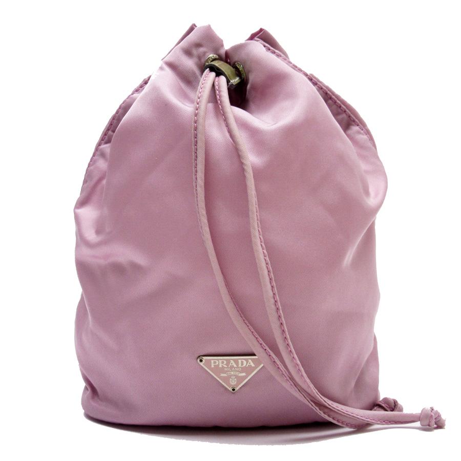0563d07ea68e BrandValue: Prada PRADA drawstring purse porch multi-case porch triangle  logo purple x beige nylon x patent leather Lady's -88,921 | Rakuten Global  Market