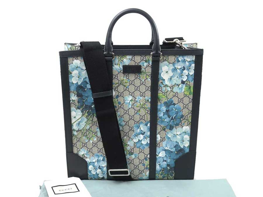 d6a3ad2fdcc It is Gucci  GUCCI  bloom 2Way bag handbag tote bag Lady s beige x navy x  blue x green GG スプリーム x leather  as well as a new article   used
