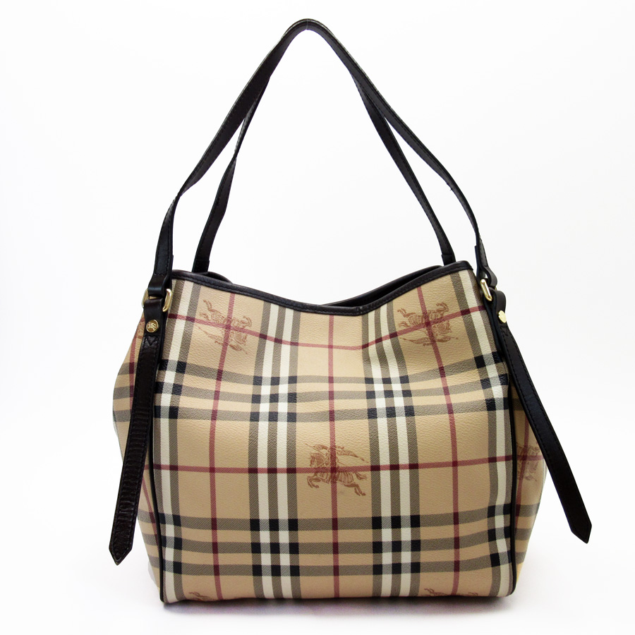 3f093801f9c  basic popularity   used  Burberry  BURBERRY  Novacek shoulder bag Lady s  beige x brown PVCx leather