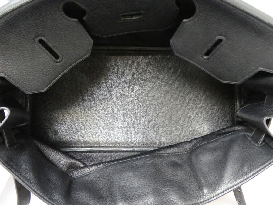 1be3eb4175 It is Hermes  HERMES  shoulder Birkin 42 bag shoulder bag handbag Lady s  black x silver metal fittings avian Yong Clement s leather  soot   used