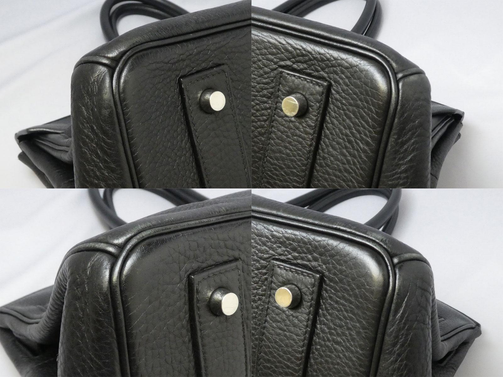 d324353fd7 Hermes HERMES bag shoulder Birkin 42 black x silver metal fittings avian  Yong Clement s leather shoulder bag handbag Lady s - e36054